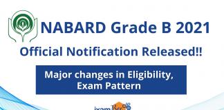 NABARD Grade B 2021 Notification