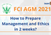 FCI AGM 2021: Management and Ethics Syllabus and Strategy.