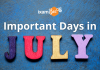 Important Days in July.