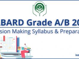 NABARD Grade A/B 2021: Decision Making