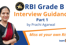 Ace RBI Grade B Interview with Prachi Agarwal - Part 1.