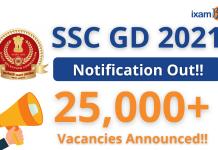 SSC GD Constable 2021: Vacancy