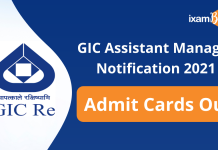 GIC admit card