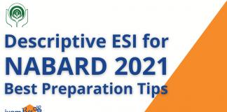 NABARD Grade A 2021 Descriptive ESI
