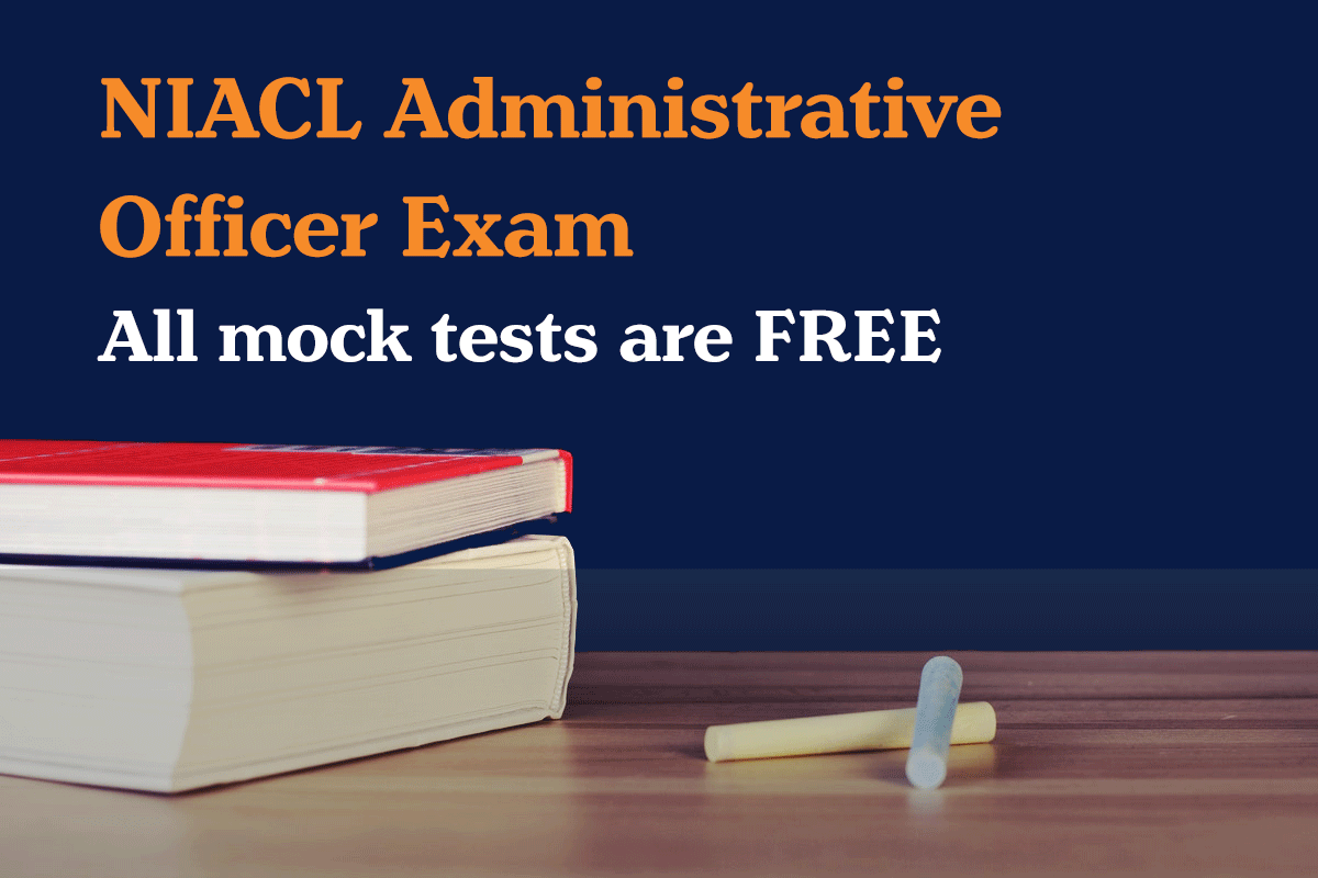 NIACL Administrative Officer Exam free mock test