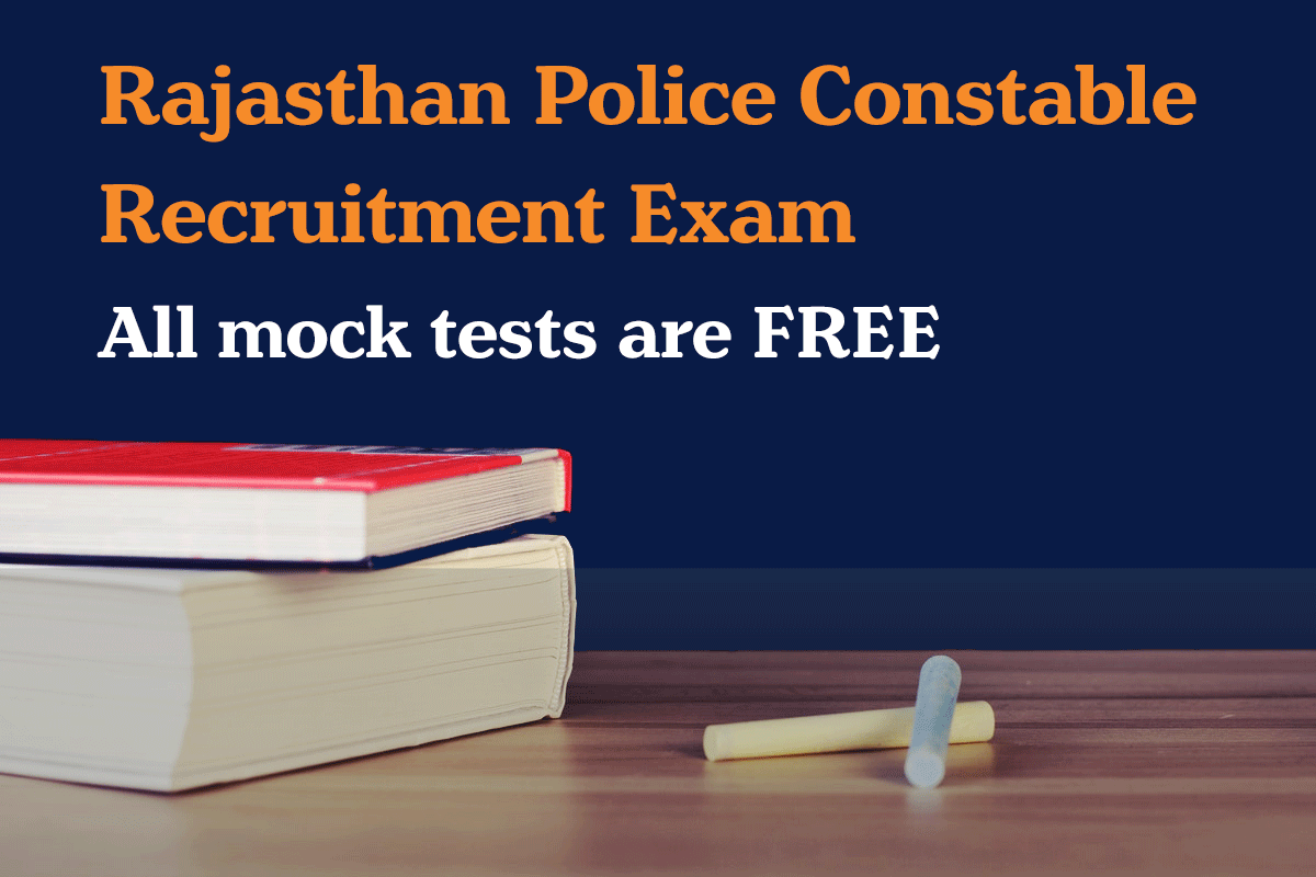 Rajasthan Police Constable Recruitment free mock test